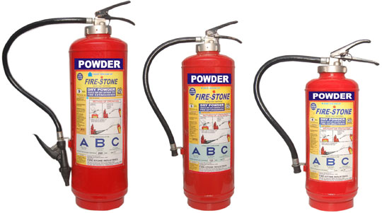 A B C Dry Powder Type Fire Extinguisher